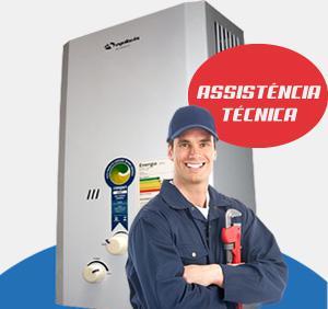 Instalação de aquecedor de água a gás